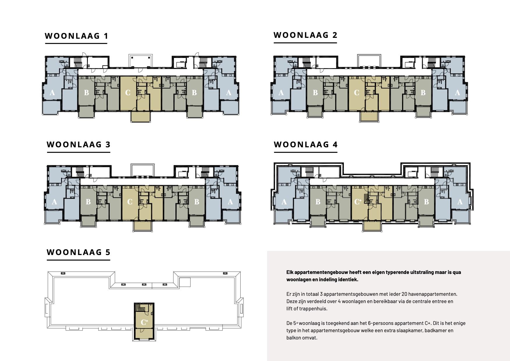 Gesamtgrundrisse Wohnungen