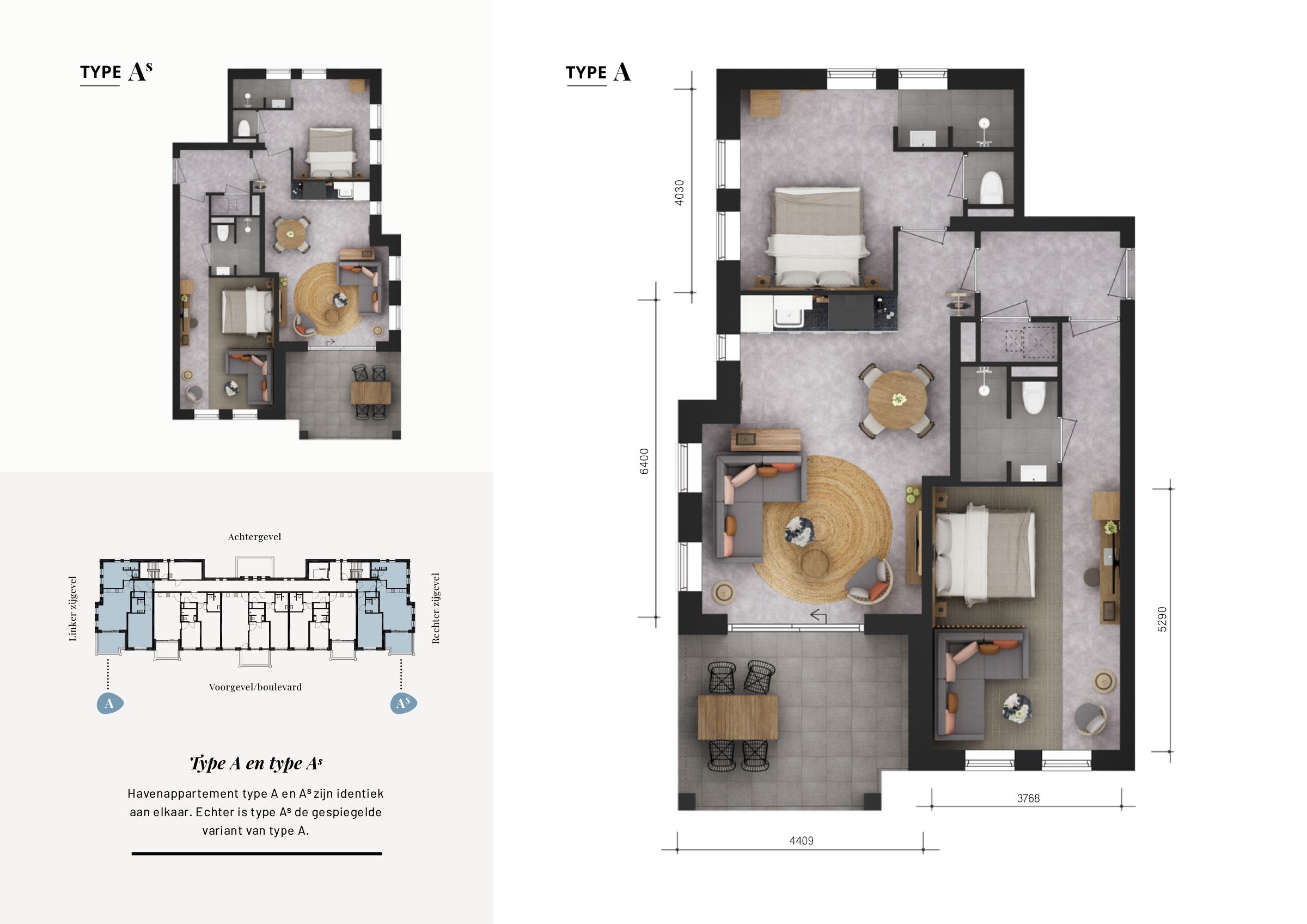 Grundrisse Wohnung A-As