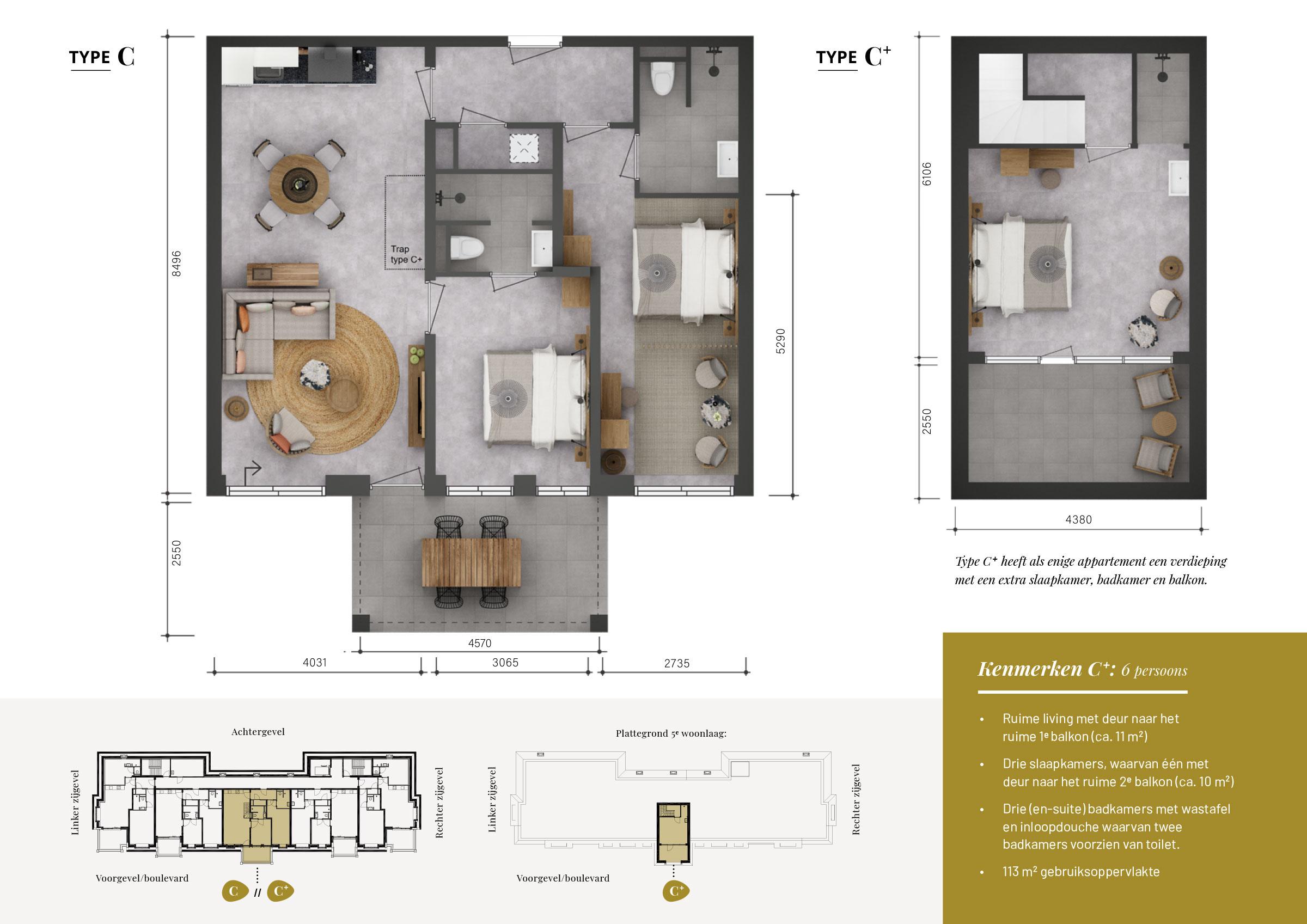 Grundrisse Wohnung C+